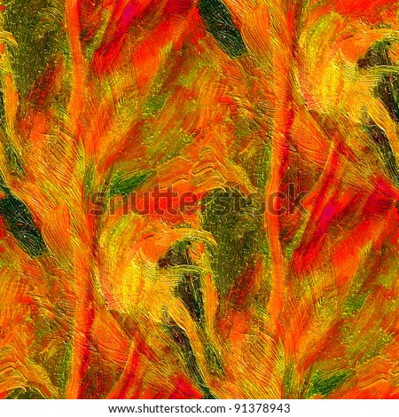 abstract red  painting oil background