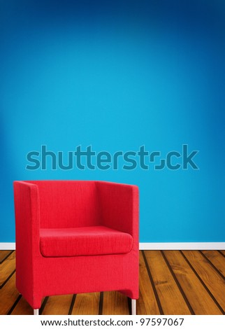 Abstract red seat.