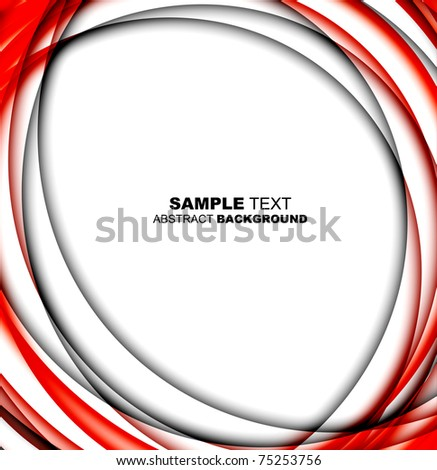 Abstract red template with place for text