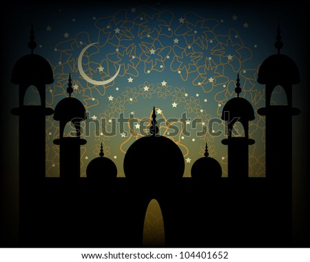 Abstract Religious Eid Background. Eps Version Also Available In Gallery.