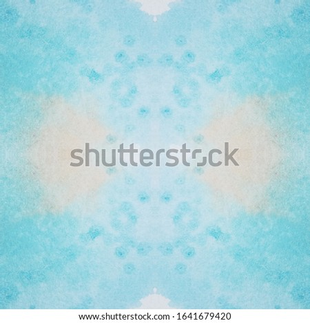Abstract Repeatable Print. Decorative Wallpapers. Aquarelle Pale Painting. Clean Aquamarine Background. Fantasy Green Painting. Air Repeat Stains.
