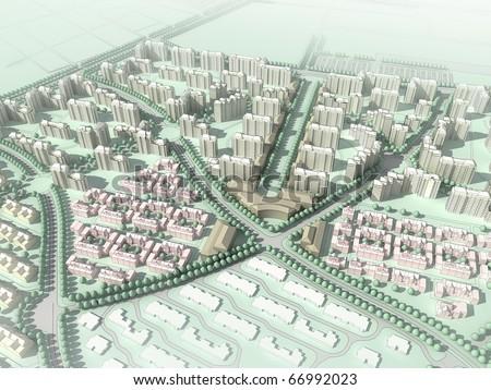 abstract residential community