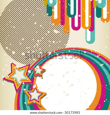 Abstract Retro background (Version vector 26693407) - stock photo