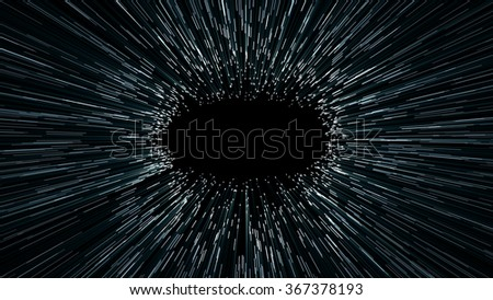 abstract scene of flight in space, space traveling, time machine