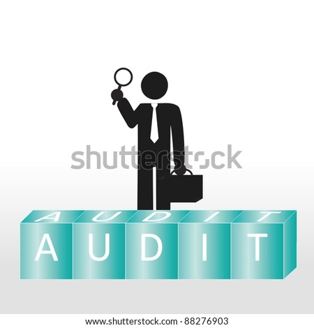 Abstract scene show person to carry audit