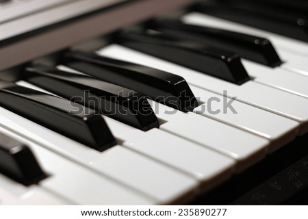 abstract scene with play on piano