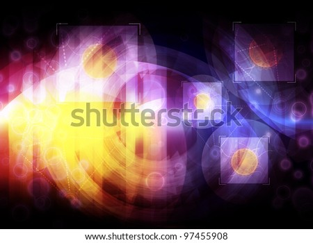 abstract science concept background illustration