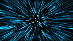 Abstract science fiction outer space and time travel concept background. long exposure