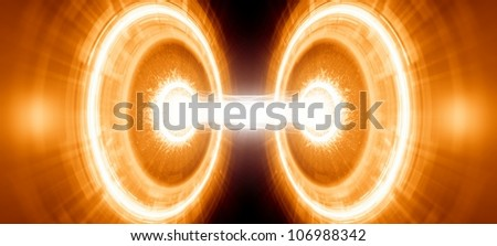 Abstract scientific background. Energy, exploding, research, experiment, collider.