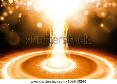 Abstract scientific background - illustration of big explosion