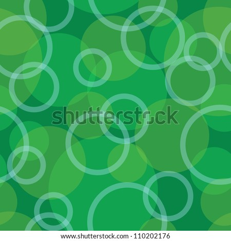 Abstract seamless background green circle, rings