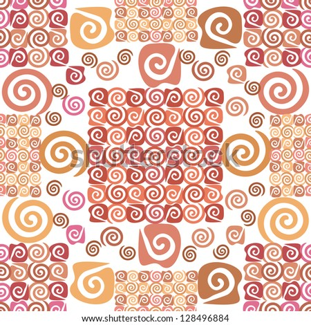 Abstract seamless background, wallpaper with pattern of spirals. - stock photo