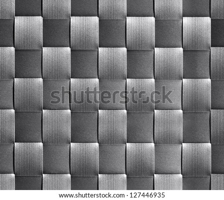 Abstract seamless background with metallic squares. - stock photo