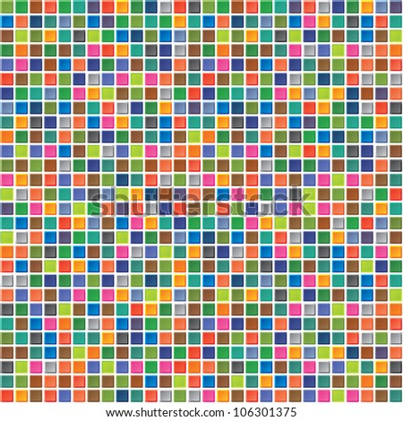 Abstract seamless pattern of colored squares
