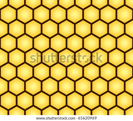 Abstract seamless pattern of honeycomb form. Background for your design. Raster illustration.