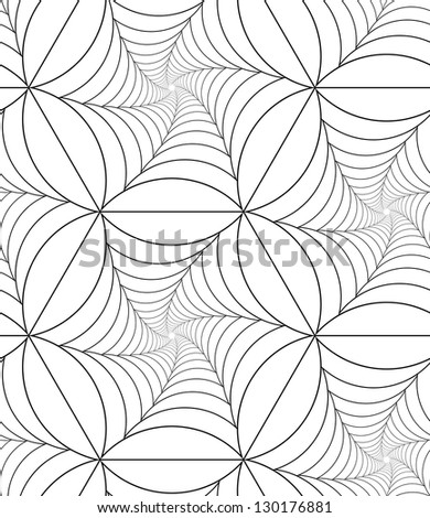 Abstract seamless pattern with net-like figures