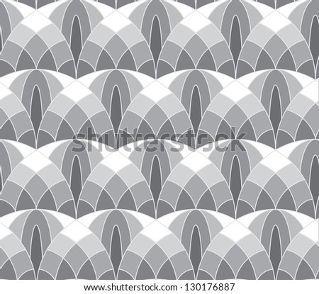 Abstract seamless tale-like pattern