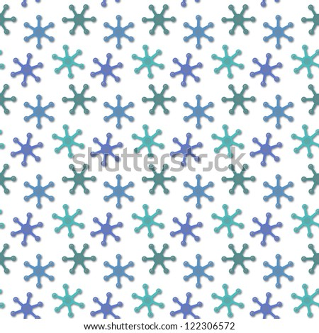 Abstract seamless texture - blue fantastic elements - stock photo
