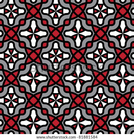 abstract seamless traditional folk style background