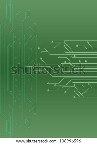 abstract set of printing conductors for an electric circuit