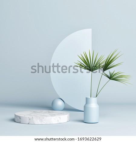 Abstract shape, Geometry shape, podium background, 3d render, 3d illustration.