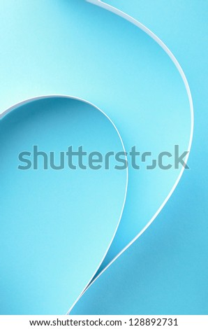 Abstract shape on blue background