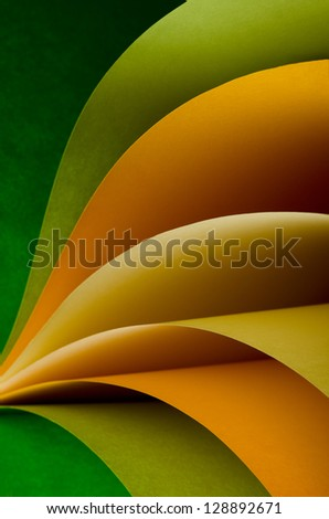 Abstract shape on dark background