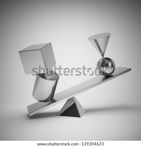 Abstract shapes from metal balance