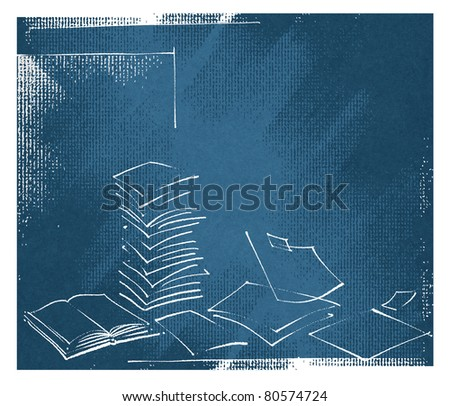 abstract sheets of paper design, artistic background - raster version