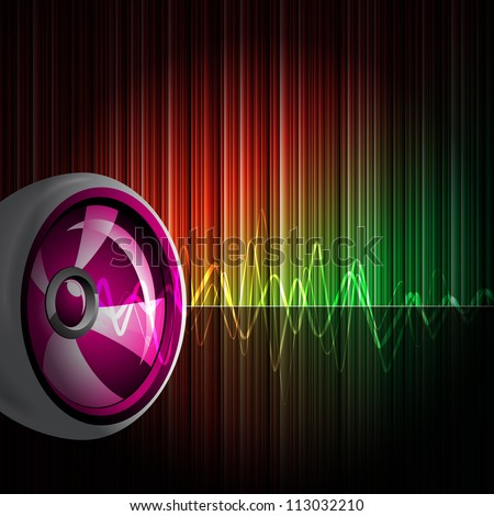 Abstract shiny background with speaker. (JPG version)