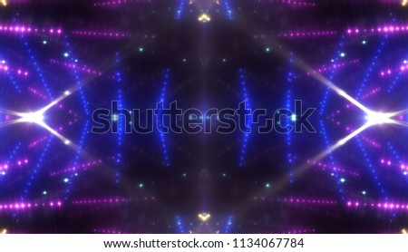 abstract shiny blue background with beams and stars. illustration digital. #1134067784