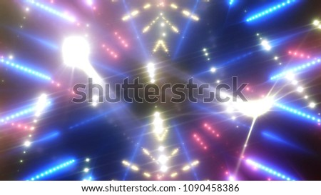 abstract shiny violet background with beams and stars. illustration digital. #1090458386