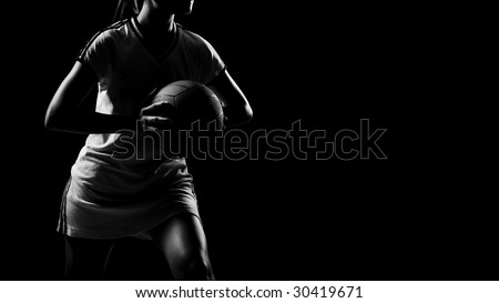 abstract shoot of sporty asian girl