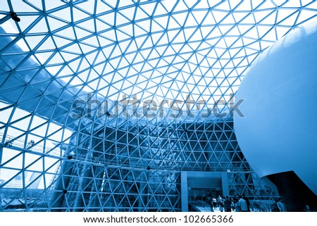 Abstract shot of modern building