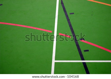 Abstract shot of the floor on a multi-sport court