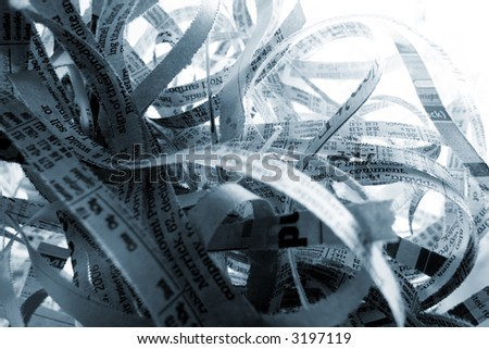 Abstract shredded paper background