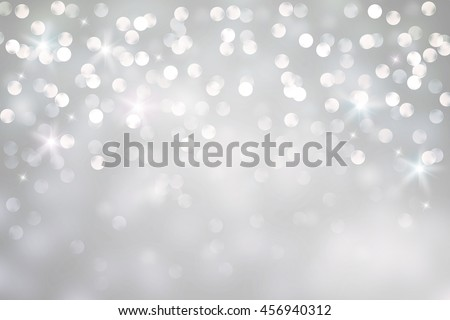 Abstract silver bokeh background