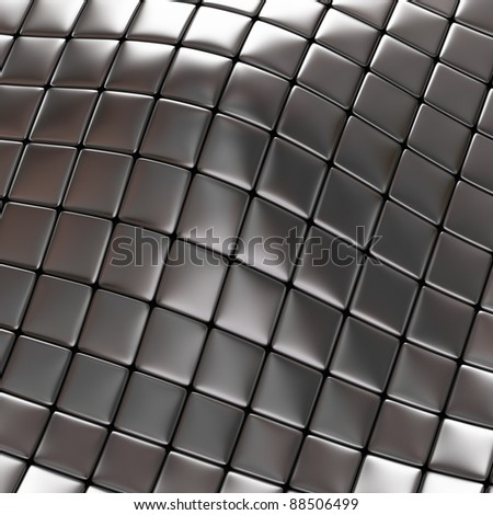 Abstract silver checkered background - stock photo