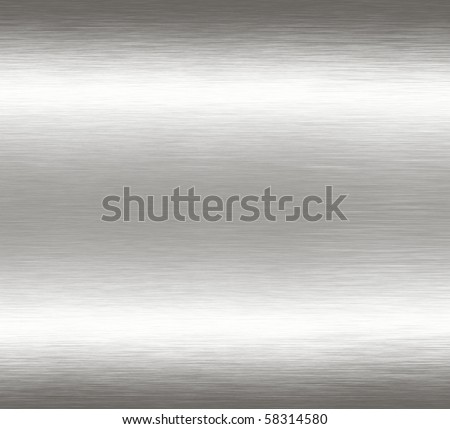 Abstract silver chrome grunge scratched brushed metal background texture.
