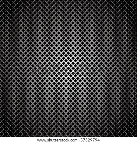 Abstract silver diamond grill background with light reflection