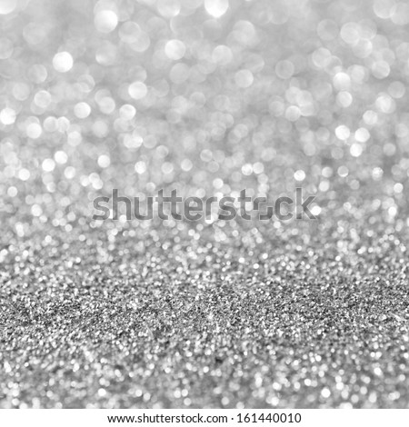 Abstract silver glitter background