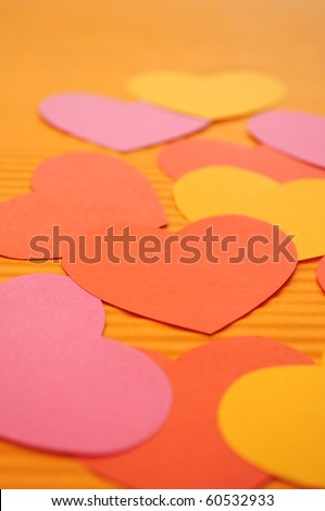 Love Heart Abstract. Abstract Simple Love Hearts