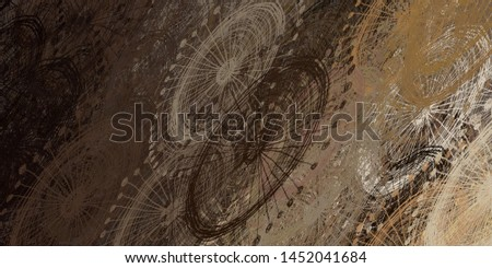Abstract sketch random pattern. Chaos and variety. Modern art drawing painting. 2d illustration. Digital texture wallpaper. Artistic sketch draw backdrop material.  #1452041684