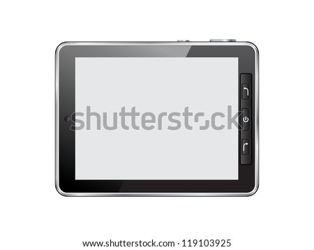 Abstract smartphone. Raster version of vector illustration.