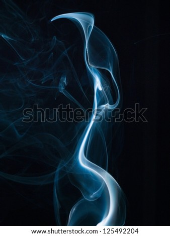 Abstract smoke isolated on black. Background