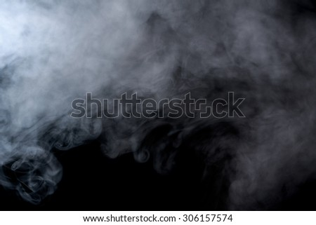 Abstract smoke on a black background. Texture. Design element. Abstract art. Smoke from hookah. Macro shooting.