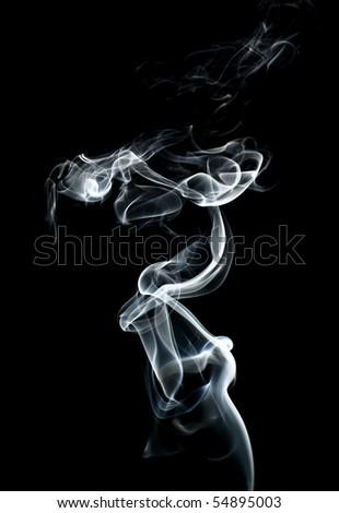 abstract smoke  on black