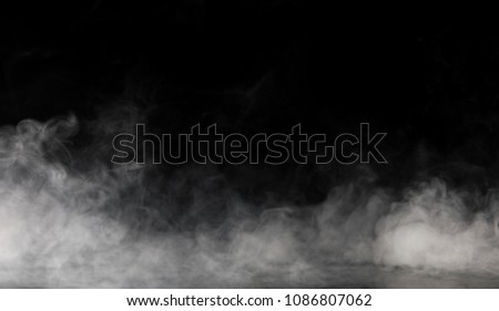 Abstract Smoke on black Background #1086807062