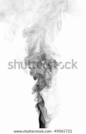 Abstract smoke wave - stock photo