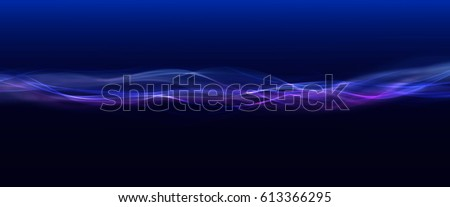 Abstract smoke waves trail on blue background. #613366295